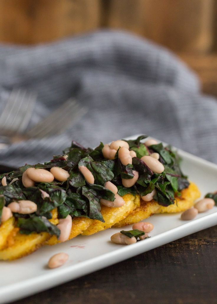 Recipe: Polenta with Swiss Chard and White Beans
