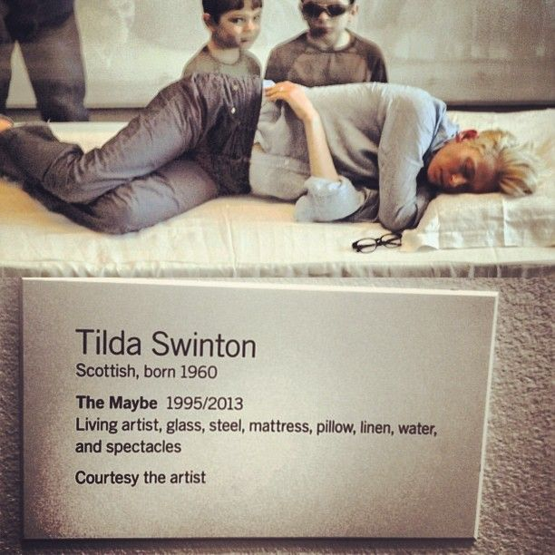 Tilda Swinton at MOMA Exhibition