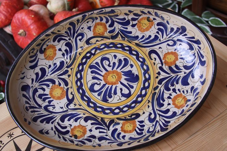 Hand made Sicilian Maiolica at Conti Tuscany Flavours ...