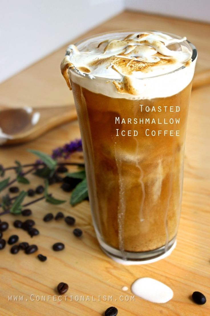 Pin This - uplifting Toasted Marshmallow Iced Coffee Recipe - great for your next morning pick me up, cold brewed and kept in the fridge.