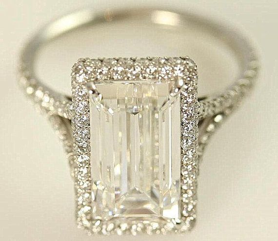 GIA certified - 5 carat - Emerald Cut Diamond engagement ...