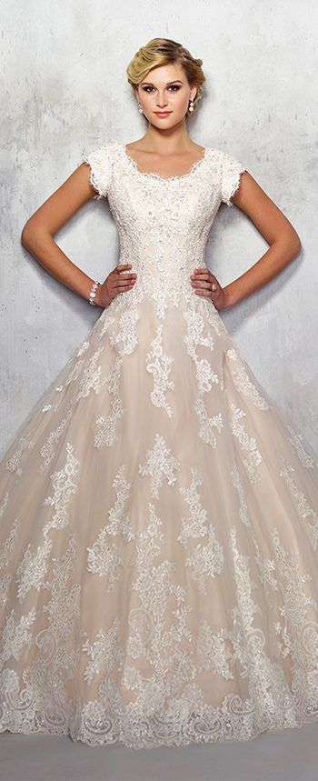 Coming soon- Modest by Mon Cheri style TR21711W in ivory, sample size 22W