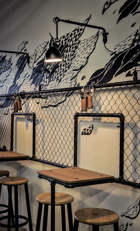 25 Best Ideas About Industrial Cafe On Pinterest