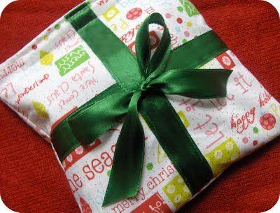 Fabric Christmas Gift Wrap