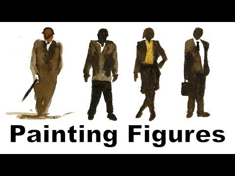Figure Drawing | Painting A Simple Figure Into Your Landscape - YouTube