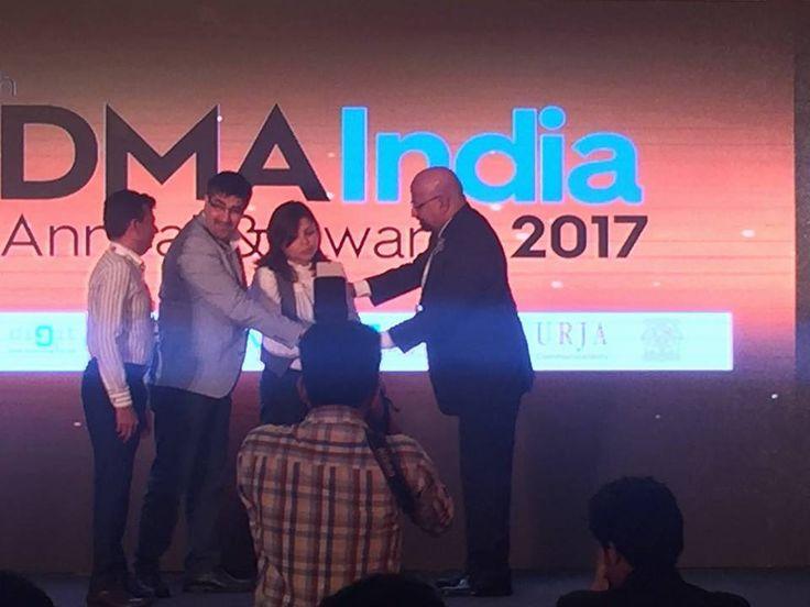 Receiving the award at DMA India Annual & Awards 2017. #AwardWinning