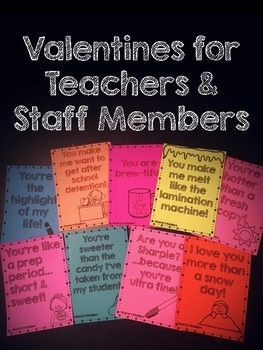 These valentines are perfect to hand out to coworkers & staff members! Add a little teacher humor to this fun holiday! Each page is in black and white for easy printing and there are nine cards to choose from! ===============================================================================================I would love to hear from you, please leave me a rating & comment!