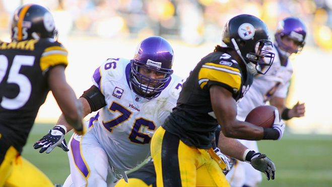 The Vikings go up against the Steelers in Wembley Stadium in Week 4.  12 Superbowl appearances between the two teams.  In 2013, however, both teams have zero wins and 3 losses.  One team will return to the US as the biggest losers.