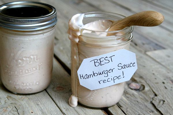 Sharing the Best Burger Sauce Recipe - a special sauce for your hamburgers to make your barbecue extra awesome. Recipe from The Recipe Girl Cookbook.
