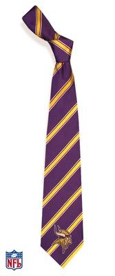 Minnesota Vikings Striped Woven Tie