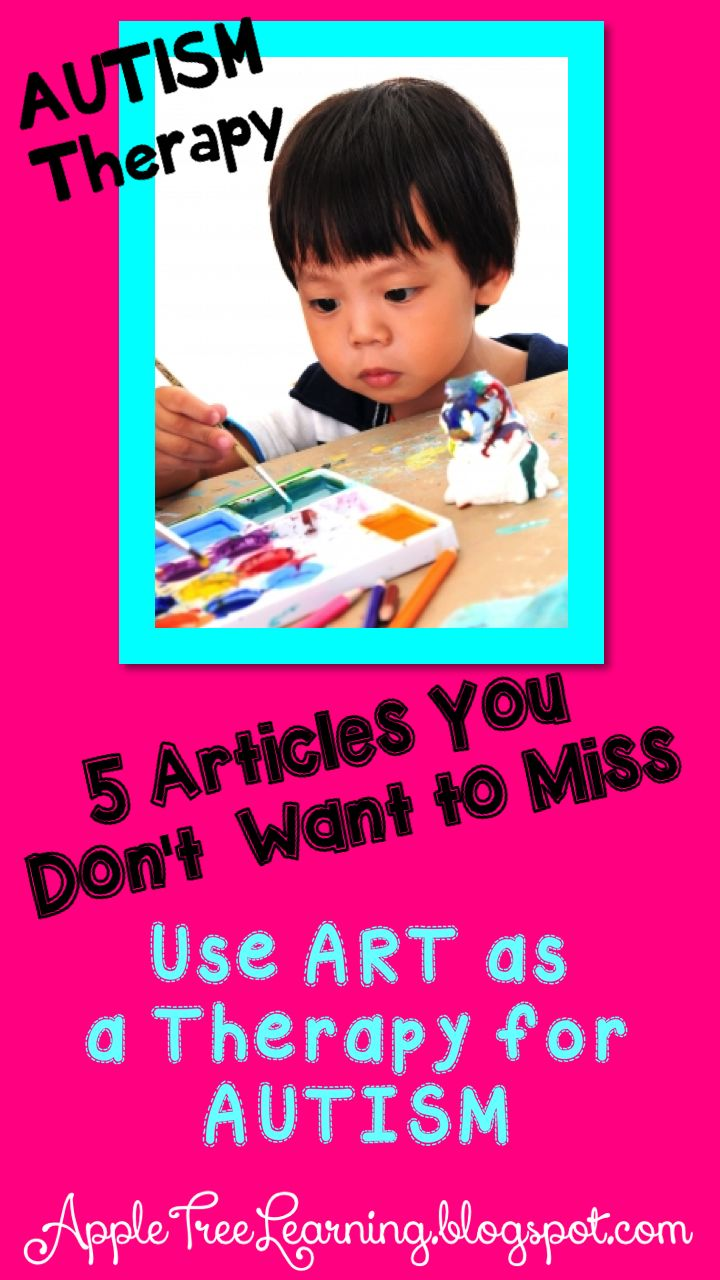 AUTISM ~ using art as a therapy and intervention for children with autism. #autism #autistic #arttherapy