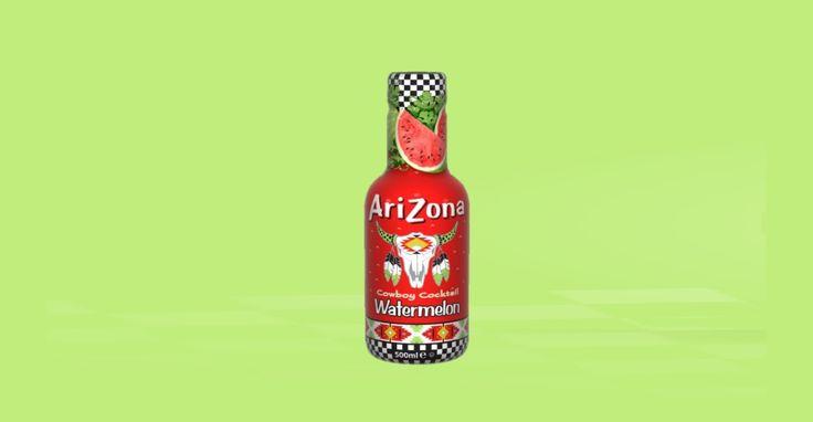 Cowboy Cocktail. Χυμός Καρπούζι.  Το καλοκαίρι στο ποτήρι μας! Tο πιο γλυκό φρούτο αιχμαλωτίζεται σε έναν απολαυστικό χυμό, γεμάτο φυσικά συστατικά που μας ταξιδεύει σε καλοκαιρινές εικόνες και στιγμές. Πλούσιο σε βιταμίνη C, το καρπούζι περιέχει επίσης αντιοξειδωτικό λυκοπένιο και ελάχιστες θερμίδες, κάνοντας το χυμό AriZona ακαταμάχητο!