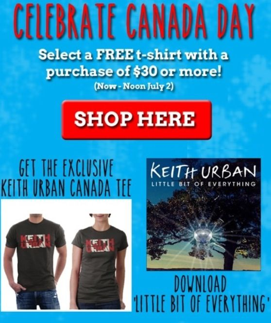 Happy Canada Day sale on @Keith Savoie Urban's online Canada Store!!! http://canada.keithurban.net/
