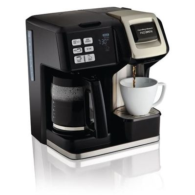Hamilton Beach 12-Cup Black with Stainless Steel Programmable Coffee Maker