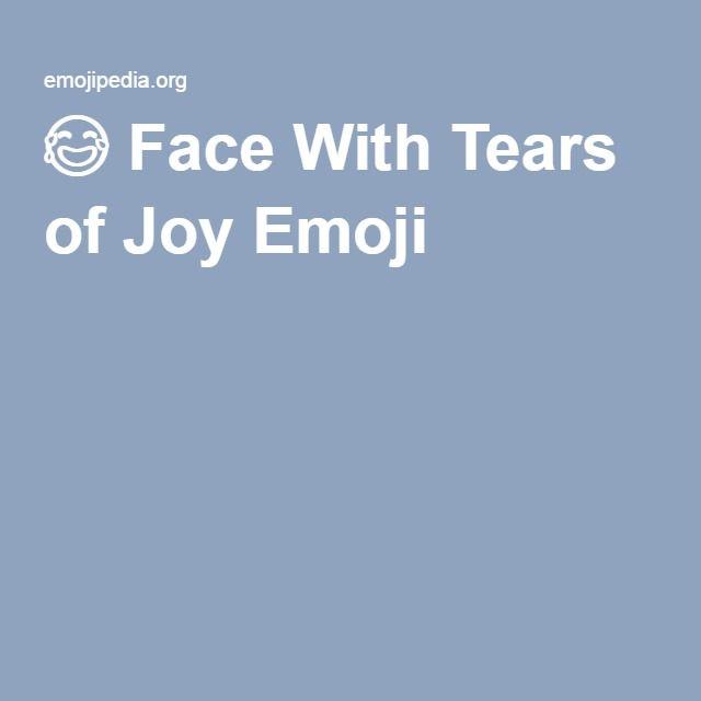 Face With Tears of Joy Emoji