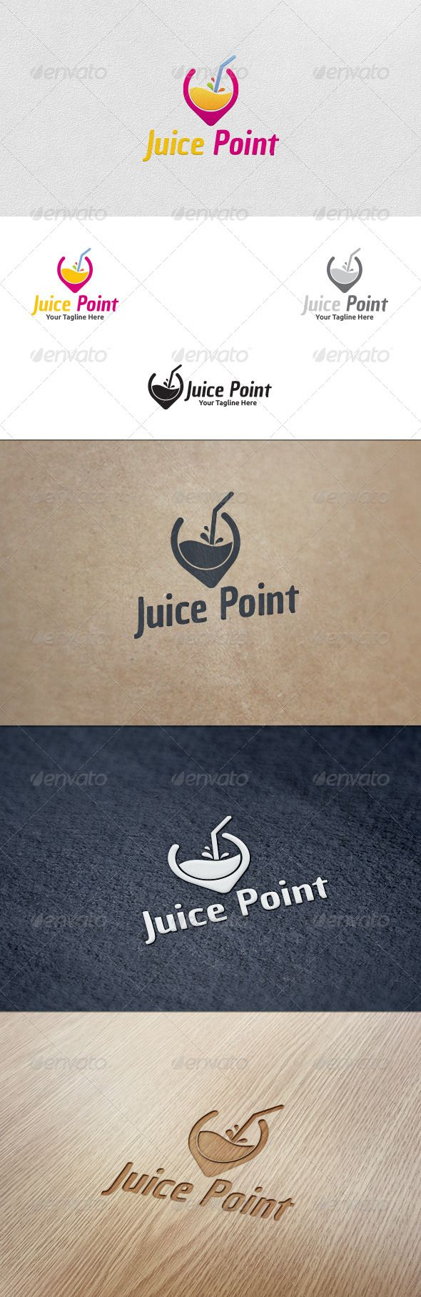 A great example of symbolism is shown here. The designer integrated the iconic image of a waypoint marker as the vessel that contains the juice. The colors that are used are simple and effective in conveying the symbolism.