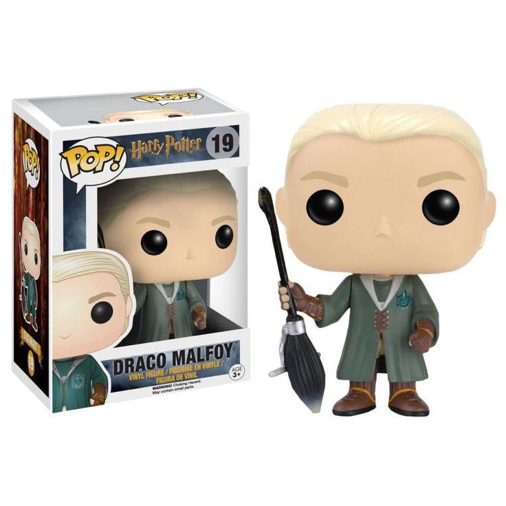 Funko Pop! Harry Potter Draco Malfoy Quidditch vestido con los colores del equipo de Quidditch de slytherin preparado para cazar la…