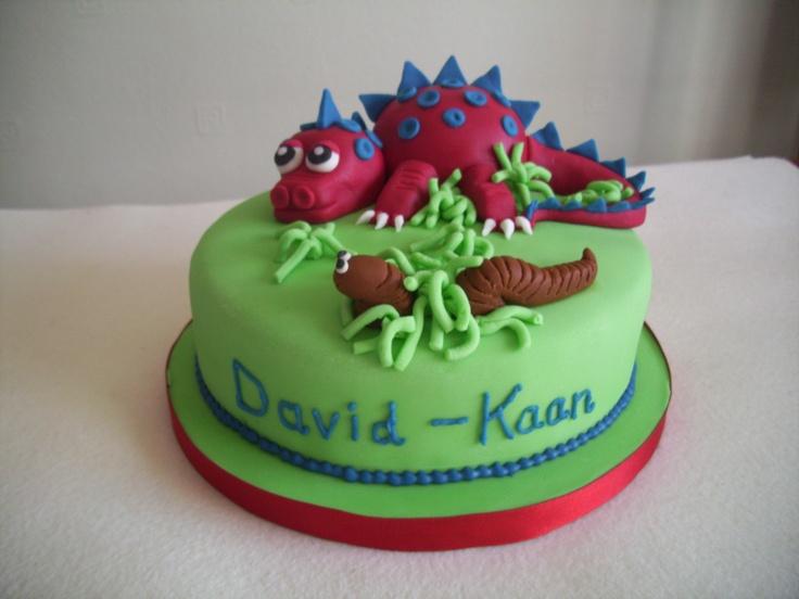Front of my homemade dinosaur cake