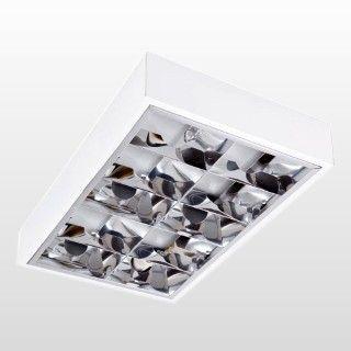 Luminária Blumenau 4xE27 de Sobrepor com Aleta de Alto Rendimento Branco