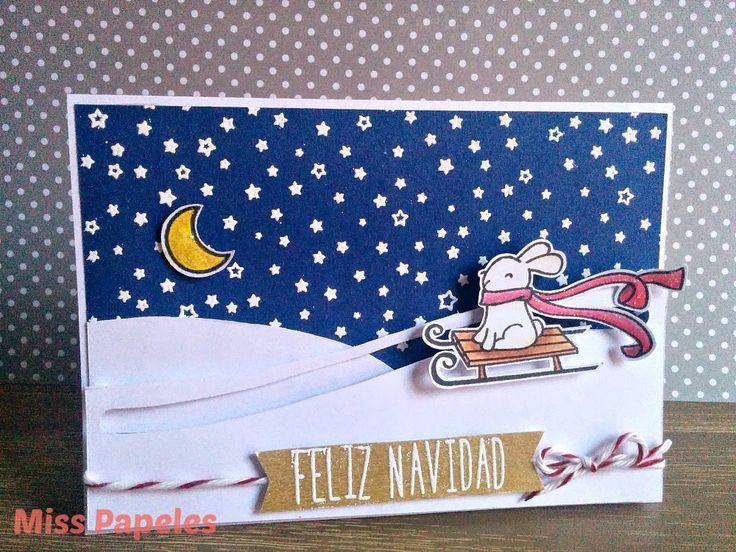 Tarjeta interactiva Navidad.Miss Papeles #card #cardmaking #interactivecard #tarjeta #tarjetainteractiva #Navidad #christmas #lawnfawn