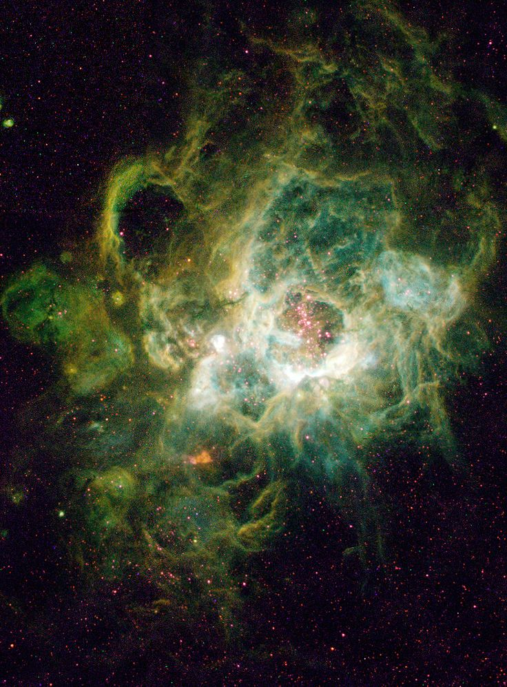 The Triangulum Emission Nebula - NGC 604Located 2.7 million light-years away in the constellation Triangulum lies the massive nebula known as NGC 604. Though such nebulae are common in galaxies, this one is particularly large, nearly 1,500 light-years across, and it dominates a portion of galaxy M33's spiral arm. Nebula NGC 604 is also an area of intense star formation. At the heart of the nebula there are over 200 hot stars, most are more massive than our Sun with the largest being up...