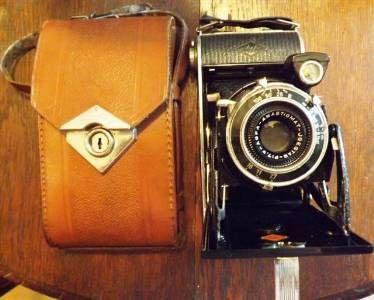 appareil photo soufflet agfa billy record avec son tui en cuir 1933 1940 appareils photo. Black Bedroom Furniture Sets. Home Design Ideas