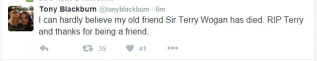 Sir Terry Wogan dies aged 77 after a short illness