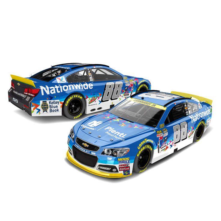 Dale Earnhardt Jr. Action Racing #88 Nationwide Plenti 1:24 2015 NASCAR Sprint Cup Series Platinum Die-Cast Chevrolet SS - $69.99