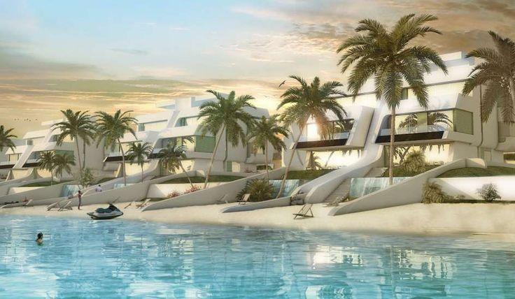 Esta es la La mansión de la reina del pop Madonna. Está en una lujosa megaurbanización en la capital asiática del lujo. Tiene playa y embarcadero propio y el salón permite ver a los delfines bajo el mar.
