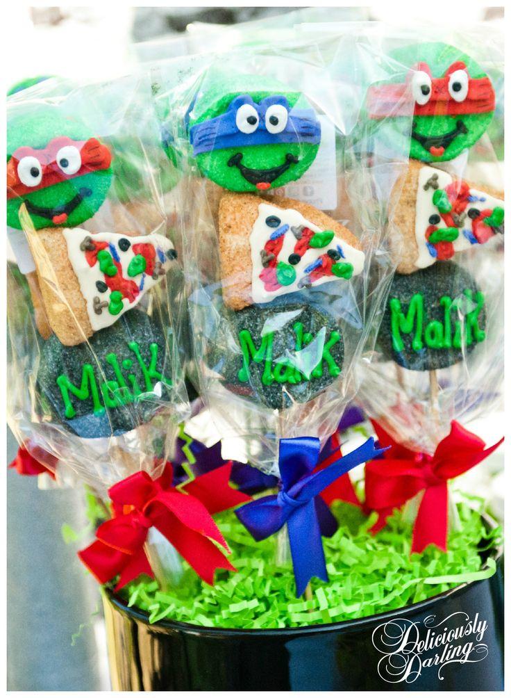 Deliciously Darling | Teenage Mutant Ninja Turtle Birthday Party | Desserts