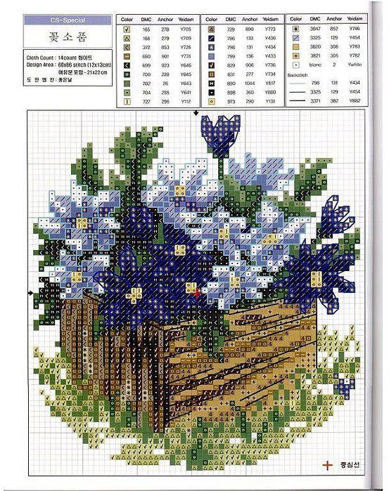 cassetta di legno con i fiori`