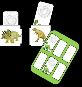 "Game, ""Find Your Dinosaur"""