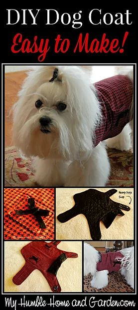 It is so easy to make a stylish DIY dog coat! A couple of years ago, when I had taken Lady to the groomer, the owner was trying to interest