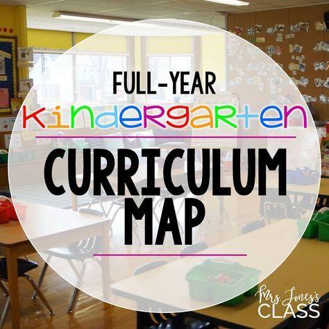 Year-Long KINDERGARTEN Curriculum Map. Free Download.
