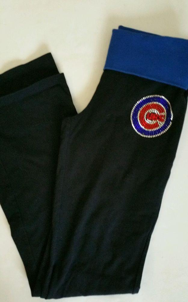 Victoria Secret yoga pants size small Major League Baseball Chicago Cubs vs Pink #VictoriaSecretPink