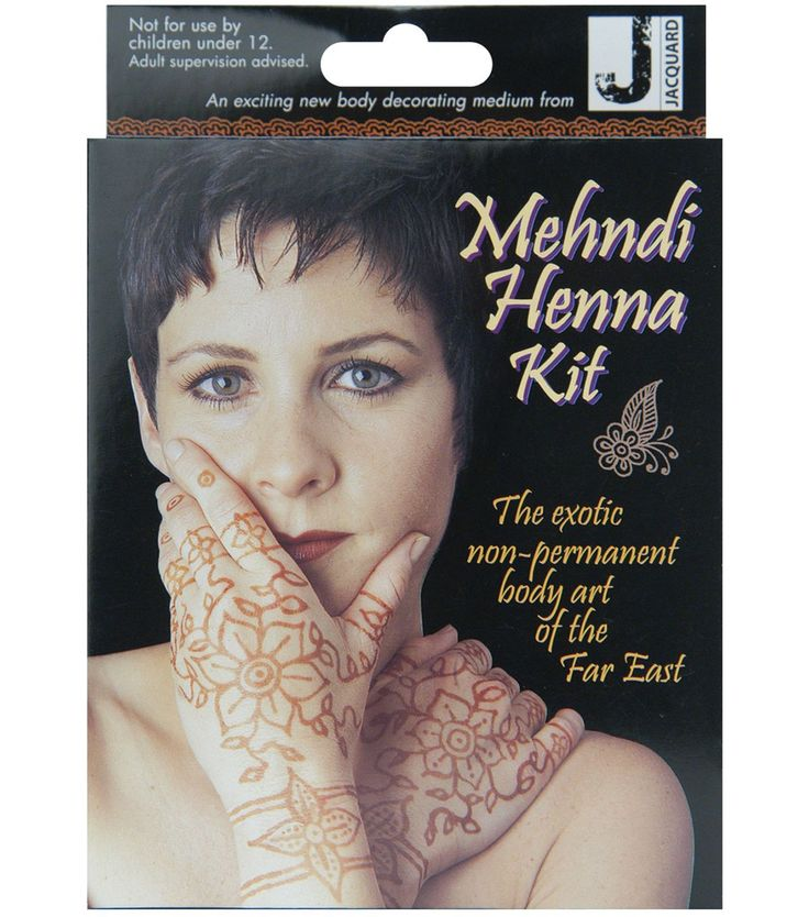 Jacquards Mehndi Henna Kit brings the ancient art from the Far East to your home.  All you need to create exotic non-permanent henna designs is in this kit.  Kit contains: 0.14oz/4g of henna powder wi
