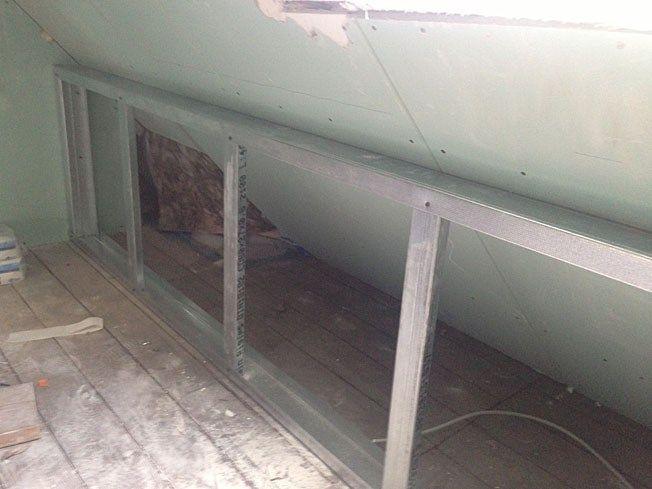 Dachschragen Verkleiden Und Drempel Bauen Trockenbau Dachbodenausbau Trockenbau Dachbodenausbau