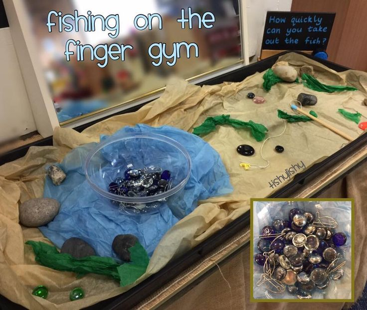 Fishing at the finger gym