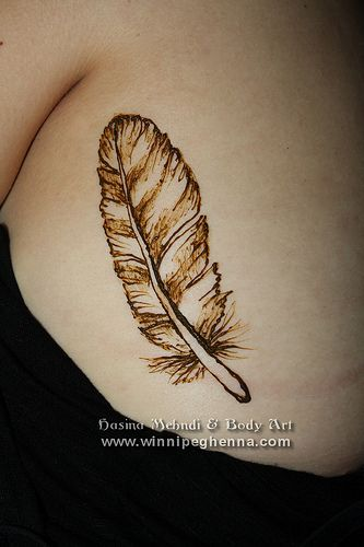 Pin Henna Tattoo Feather Birds Tattoos on Pinterest