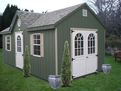 Wood Victorian Shed