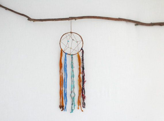 BOHO DREAM CATCHER . sari silk . wall hanging . by bohemianbabes