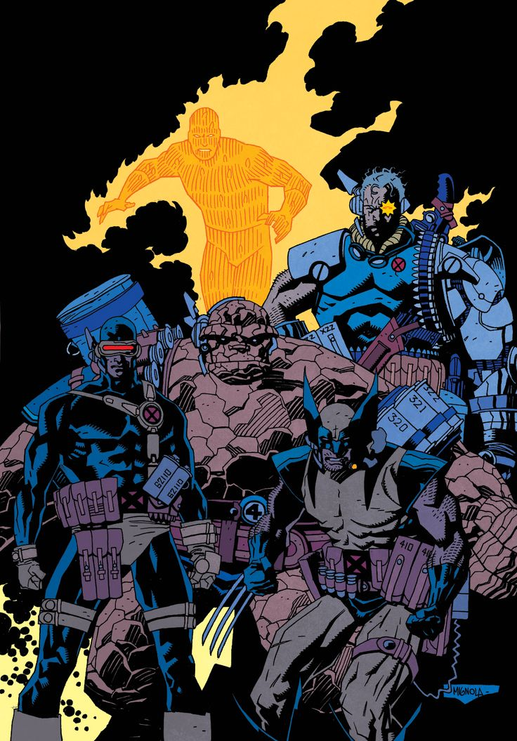 Color Warm Up. Art by Mike Mignola