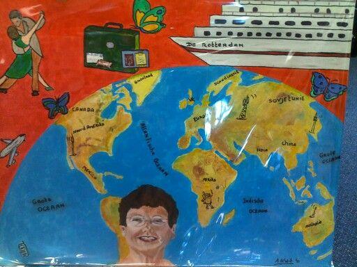 Acryl schilderij voor een reiziger