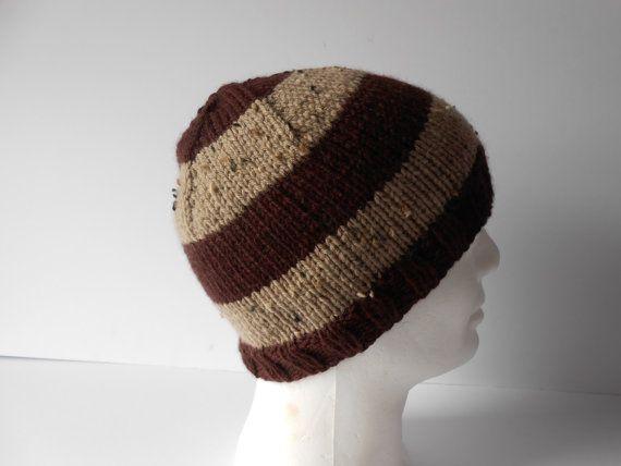 Men's Beanie Hat. Men's knit hat. Knitted toque hat by AluraCrafts