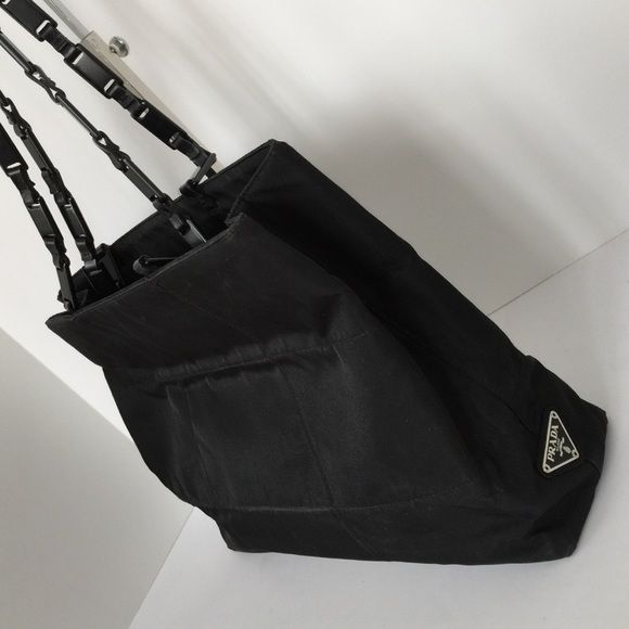how much is this black nylon prada bag with plastic handles worth