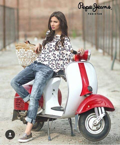 Pakistani actor Mahira Khan for Pepe Jeans Pakistan.