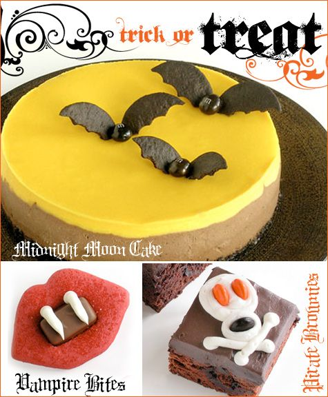 Lots of cute halloween party decorations and dessert / food ideas on this site