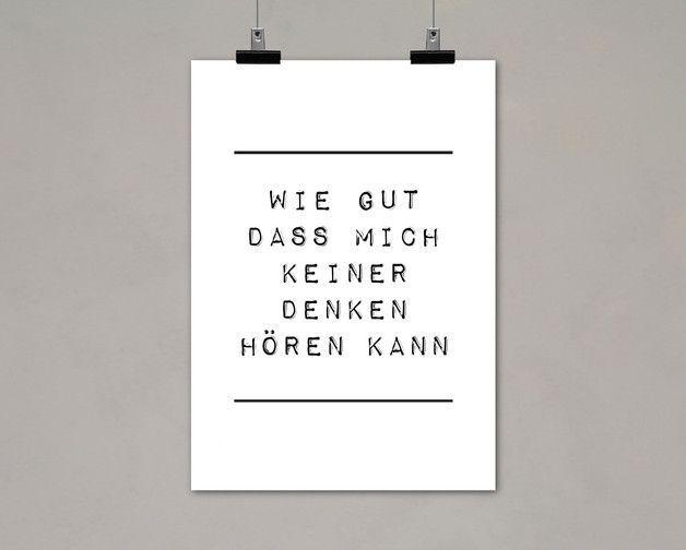 "Digitaldruck mit Typo ""Wie gut"" / artprint, typo poster by Einsaushundert via http://DaWanda.com"