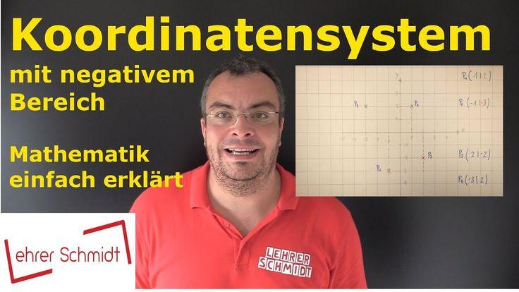 Koordinatensystem, Lehrerschmidt, Mathematik, einfach erklärt