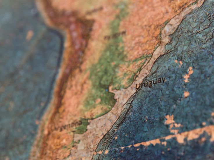 DIY-Anleitung: Weltkarte mit Foto Transfer Potch auf Kork übertragen via DaWanda.com
